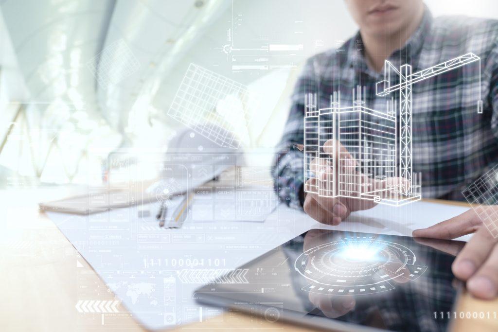 arquiteto usando ERP para construtoras
